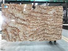 Brazil Tropical Gold Granite Slab Tile for Countertop