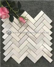 Cheap Calacatta White Marble Mosaic Tiles
