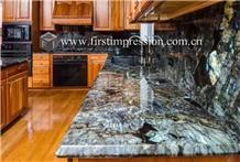 Cheap Labradorite Blue Granite for Kitchen Tops