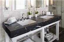 China Black Marquina Marble Bath Design Vanity Top