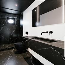 China Black Marquina Marble Bathroom Countertops