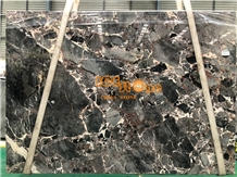 China Chocolate Grey Black Marble Slabs & Tiles