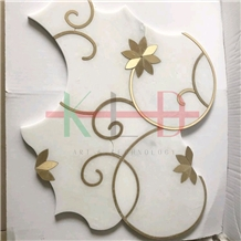 China Factory Marble Metal Mosaics Tiles Polished