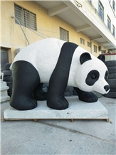China Garden Stone Sculpture Panda Outdoor Statues