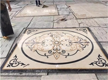 China Multicolor Marble Water Jet Medallion