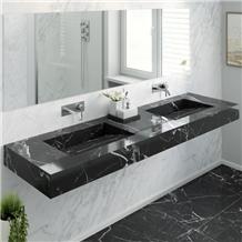 China Nero Marquina Marble Water Wash Basins Sink