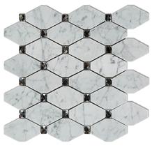 China Volakas Marble Mix Glass Mosaic Pattern