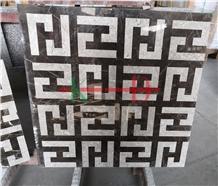 Composited Marble Waterjet Medallion Floor Tiles
