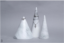 Cone Marble Necklace Decorative Jewelry Base