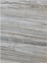 Eurasian White Wood Grain Marble for Vanity Top