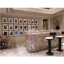 Fleury Fior Pesco Bosco Marble for Reception Desk