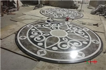 Floor Inlay Waterjet Marble Medallion Pattern