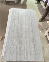 French Pattern Honed Blue Wood Vein Marble Tiles