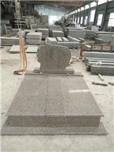 G664 Pink Granite Tombstone Monuments