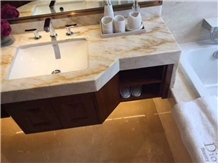 Gold Marble Bathroom Vantiy Countertop