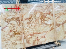 Golden Phoenix Marble Slabs for Background Wall