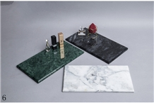 Green Marble Jewelry Dish Bowl Bathroom Boxes