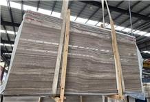 Guizhou Light Grey Wood Grain Marble Slab Tile