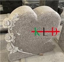 Heart Monument,Flower Design Granite