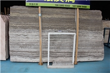 Iran River Silver Travertine Slab and Tiles