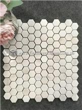 Italy Calacatta White Marble Mosaic Tiles