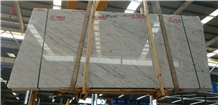 Italy White Cattani Marble Polished Tiles Slabs