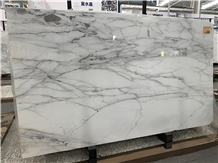 Lincoln White Marble Slab for Interior Deco