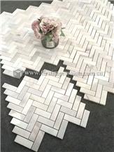 Luxury Calacatta White Marble Mosaic Tiles