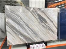 Malaysia Qamar Pearl White Marble Slabs Tiles