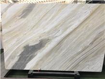Malaysia Qamar White Pearl Marble Polished Slabs