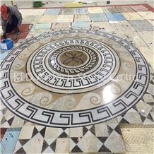 Marble Warterjet Medallion for Flooring Stone Tile