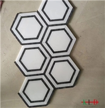 Mix Color Bathroom Knot Marble Mosaic Tile Sheets
