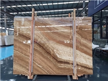 Natural Stone Wooden Onyx Slabs & Tiles