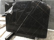 Noir Aziza/Marmo Nero Tunisi Black Marble Slab