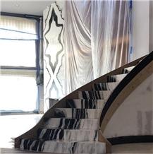 Panda White Marble Steps, Stone Stair