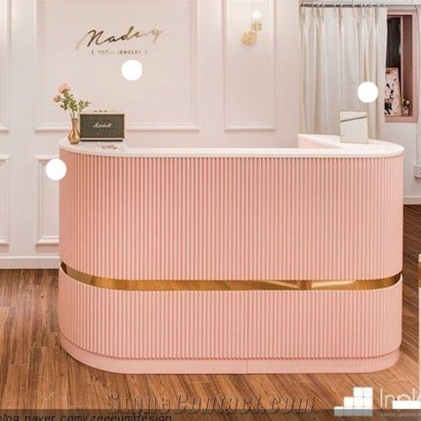 Beauty Salon Reception Counter Desk, Salon Reception Desk