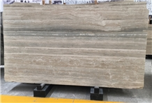 Polished Italy Travertine Silver Walling Slabs
