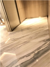 Polished Qamar Pearl Marble Floor Covering Tiles