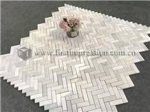 Popular Calacatta White Marble Mosaic Tiles