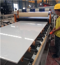 Super Absolute White Artificial Stone Slab Tile