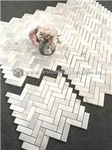 Top Calacatta White Marble Mosaic Tiles