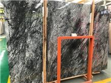Turkey Mugla Black Marble Slab Tile Polished Wall
