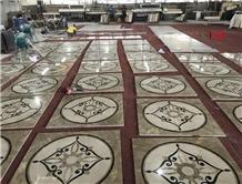 Water Jet Medallion Pattern Tiles Decoration