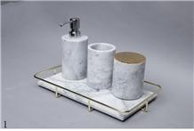 White Marble Storage Kitchen Plate Dish Saucer