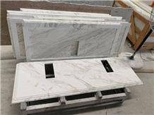 White Marble Volakas White Marble Bath Vanity Top