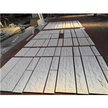 White Sandstone Slabs Tiles for External Cladding