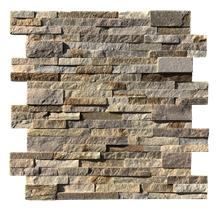 Beige Slate Stacked Ledge Stone Panels Wall Cladding