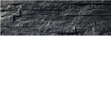 Cheap Black Wall Stone Cladding Stacked Ledger