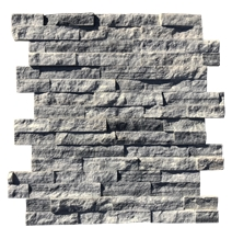 Grey Marble Ledger Panel Stacked Stone Veneer