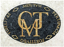 Company Logo Ariston Nero Marquina Medallion